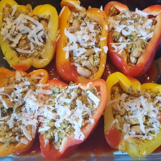 Stuffed Pepper Preparation
